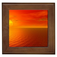 Sunset Framed Ceramic Tile by Siebenhuehner