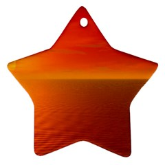 Sunset Star Ornament by Siebenhuehner