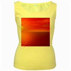 Sunset Womens  Tank Top (yellow) by Siebenhuehner