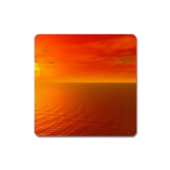 Sunset Magnet (square) by Siebenhuehner