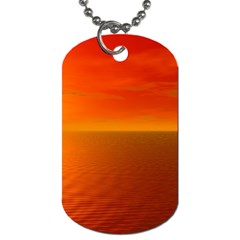 Sunset Dog Tag (one Sided) by Siebenhuehner