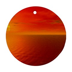 Sunset Round Ornament (two Sides) by Siebenhuehner