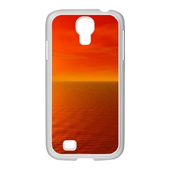 Sunset Samsung Galaxy S4 I9500/ I9505 Case (white) by Siebenhuehner