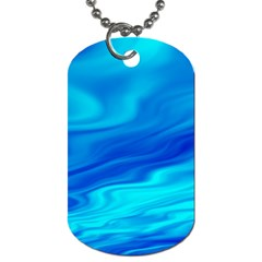Blue Dog Tag (one Sided) by Siebenhuehner
