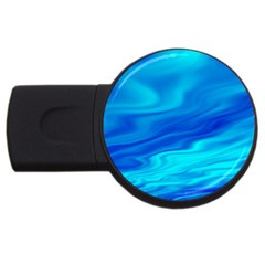 Blue 2gb Usb Flash Drive (round) by Siebenhuehner