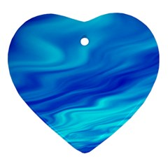 Blue Heart Ornament (two Sides) by Siebenhuehner
