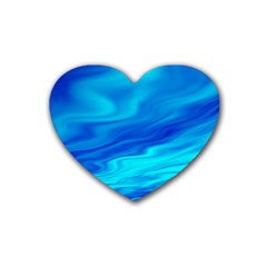 Blue Drink Coasters (heart) by Siebenhuehner