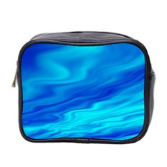 Blue Mini Travel Toiletry Bag (two Sides) by Siebenhuehner