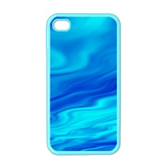 Blue Apple Iphone 4 Case (color) by Siebenhuehner