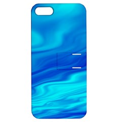 Blue Apple Iphone 5 Hardshell Case With Stand by Siebenhuehner