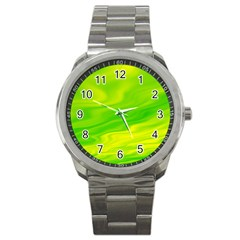 Green Sport Metal Watch by Siebenhuehner