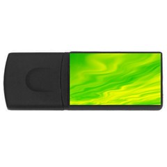 Green 4gb Usb Flash Drive (rectangle) by Siebenhuehner