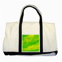Green Two Toned Tote Bag by Siebenhuehner