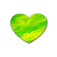 Green Drink Coasters (heart) by Siebenhuehner