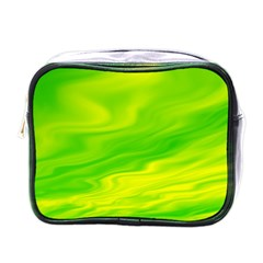 Green Mini Travel Toiletry Bag (one Side) by Siebenhuehner