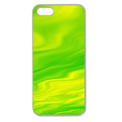 Green Apple Seamless Iphone 5 Case (clear) by Siebenhuehner