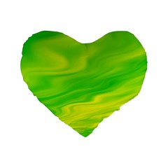 Green 16  Premium Heart Shape Cushion  by Siebenhuehner