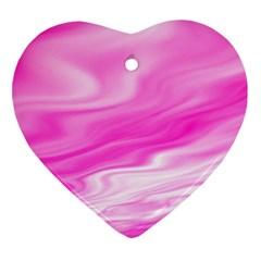 Background Heart Ornament (two Sides) by Siebenhuehner
