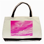 Background Twin-sided Black Tote Bag Back
