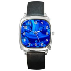 Modern  Square Leather Watch
