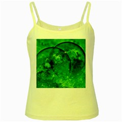 Green Bubbles Yellow Spaghetti Tank by Siebenhuehner