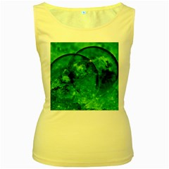 Green Bubbles Womens  Tank Top (yellow) by Siebenhuehner