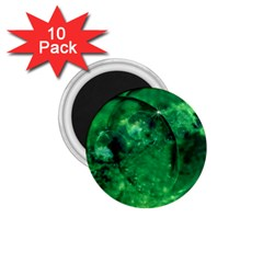 Green Bubbles 1 75  Button Magnet (10 Pack) by Siebenhuehner