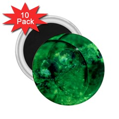 Green Bubbles 2 25  Button Magnet (10 Pack) by Siebenhuehner