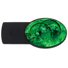 Green Bubbles 2gb Usb Flash Drive (oval) by Siebenhuehner