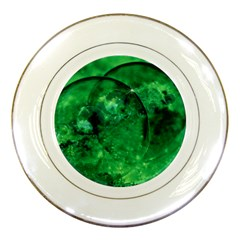 Green Bubbles Porcelain Display Plate by Siebenhuehner