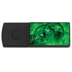 Green Bubbles 4gb Usb Flash Drive (rectangle) by Siebenhuehner