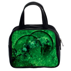 Green Bubbles Classic Handbag (two Sides) by Siebenhuehner