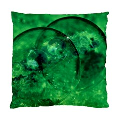 Green Bubbles Cushion Case (two Sided)