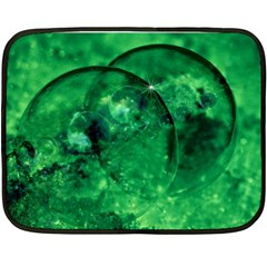 Green Bubbles Mini Fleece Blanket (two Sided) by Siebenhuehner