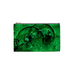 Green Bubbles Cosmetic Bag (small) by Siebenhuehner