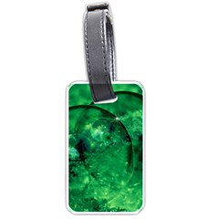 Green Bubbles Luggage Tag (two Sides) by Siebenhuehner