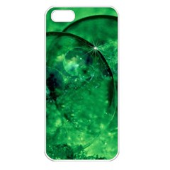 Green Bubbles Apple Iphone 5 Seamless Case (white) by Siebenhuehner