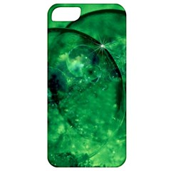 Green Bubbles Apple Iphone 5 Classic Hardshell Case by Siebenhuehner