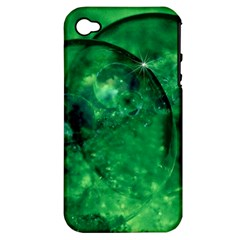 Green Bubbles Apple Iphone 4/4s Hardshell Case (pc+silicone) by Siebenhuehner