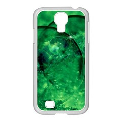 Green Bubbles Samsung Galaxy S4 I9500/ I9505 Case (white) by Siebenhuehner