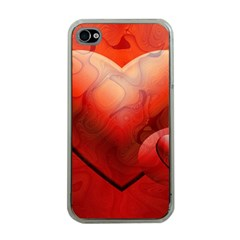 Love Apple Iphone 4 Case (clear) by Siebenhuehner