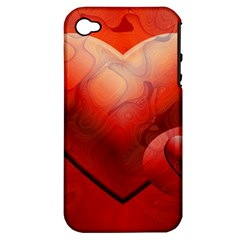 Love Apple Iphone 4/4s Hardshell Case (pc+silicone) by Siebenhuehner