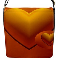 Love Flap Closure Messenger Bag (small) by Siebenhuehner