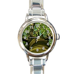 Tree Round Italian Charm Watch by Siebenhuehner