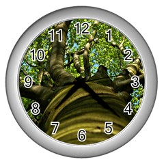 Tree Wall Clock (silver) by Siebenhuehner