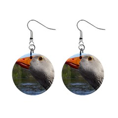 Geese Mini Button Earrings by Siebenhuehner