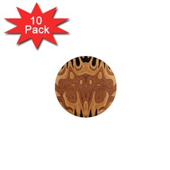 Design 1  Mini Button Magnet (10 Pack) by Siebenhuehner