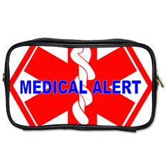 Medical Alert Health Identification Sign Travel Toiletry Bag (one Side) by youshidesign