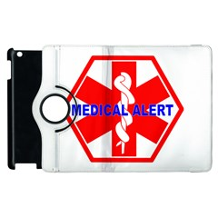 Medical Alert Health Identification Sign Apple Ipad 3/4 Flip 360 Case by youshidesign