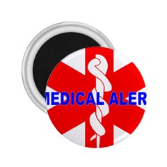 Medical Alert Health Identification Sign 2 25  Button Magnet by youshidesign